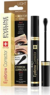 Eveline Cosmetics Eyebrow Corrector 5 in 1, Light Brown, 9 ml