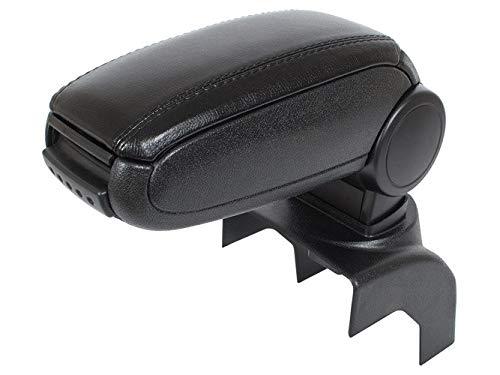 KOMPLETT-Set Mittelarmlehne Armlehne Leder Bezug Schwarz zum einfachen Nachrüsten passend für Golf V 5 ab 2003-2008 / Jetta ab 2005-2010