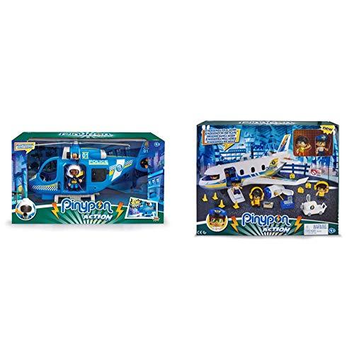 Pinypon Helicóptero de policía con 1 Figura y Accesorios, para niños y...