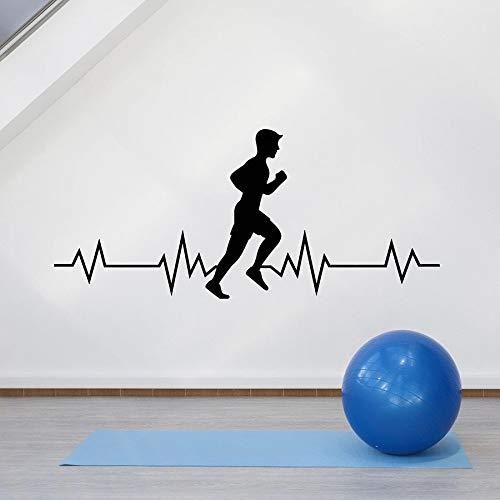 Tianpengyuanshuai Running muur stickers gezonde levensstijl sport running aerobic puls sportschool decoratieve ramen en deuren vinyl