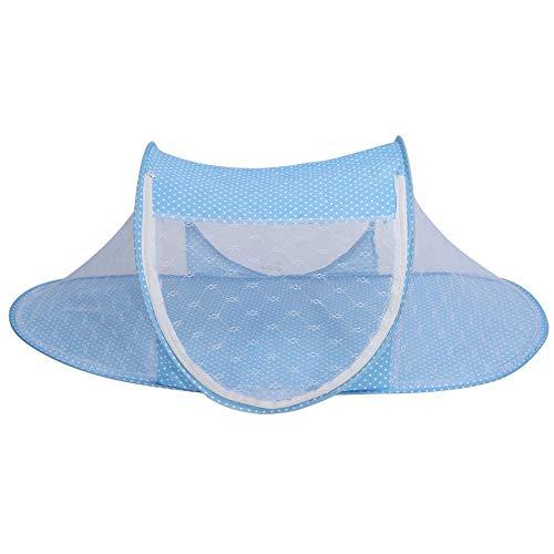 Baby-Säuglingsbett-Überdachung-Moskito-Netz, faltbares Baby-Säuglings-Pop-up Krippen-Wiege Anti-Bug-Zelt-Moskitonetz-Netz-tragbare Baumschulen-Bett-Krippen-Überdachungs-Reise-Bett-Spiel-Schatten(Blau)