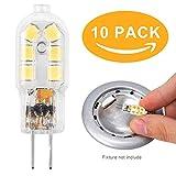 Ampoules LED G4 Capsule Ampoule LED de hotte, 10W 15W 20W Ampoules Halogènes équivalentes, AC/DC12V, blanc froid 6000K (10 pcs)...