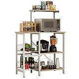 Küchenschrank Organizer Küche Bäcker Rack-Utility Storage Shelf 3-Tier + 4-Tier-Regal mit 2...