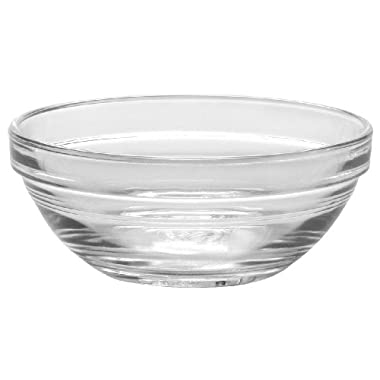 Duralex - Lys Stackable Clear Bowl 10,5 cm (4 1/8 in) Set Of 6