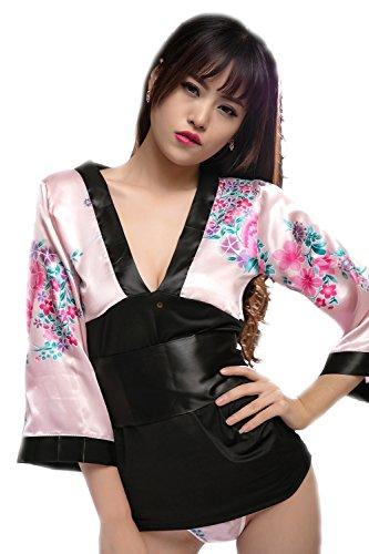 Shangrui Frauen der Uniform Serie Tief-V-Kragen Kimono