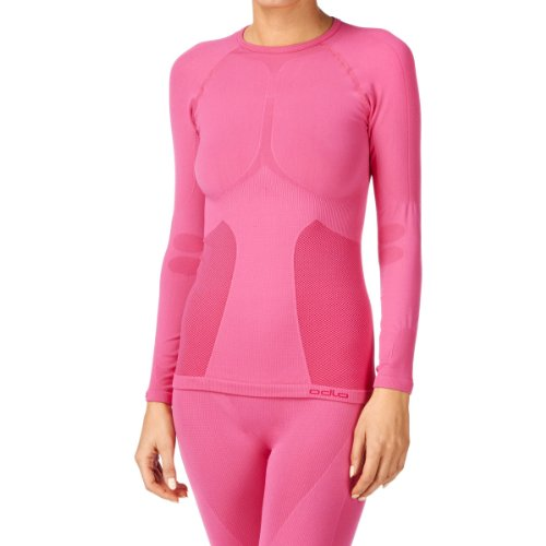Odlo Evolution Warm T-Shirt chaud col rond sans couture femme Magenta Taille Fabricant : XL