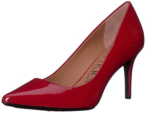 Calvin Klein Women's Gayle Pump, Crimson Red, 8.5 Medium US