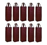 Non-woven 10pcs reutilizable bolsa de bolsa térmica para botella de vino soporte de vino bolsa de regalo vino carier bolsa single bottle