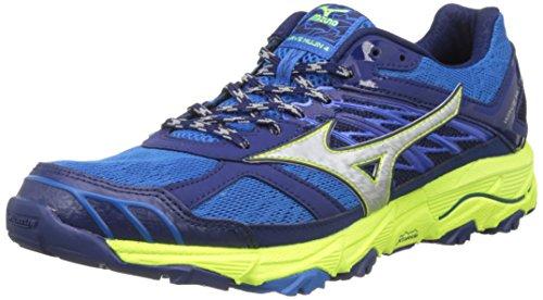 Mizuno Wave Mujin 4, Zapatillas de Running para Hombre, Multicolor (Directoireblue/silver/safetyyellow), 44.5 EU