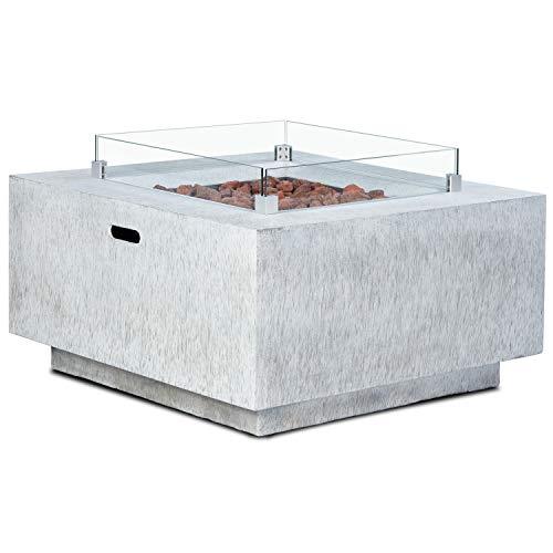 intergrill Gasfeuerstelle TM18012 V2 Fire Pit Feuertisch für Garten Terrasse mit Laversteinen
