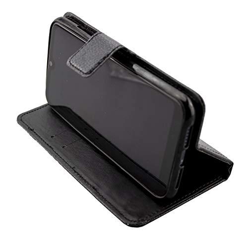 caseroxx Handy Hülle Tasche kompatibel mit Archos Oxygen 57 Bookstyle-Hülle Wallet Hülle in schwarz