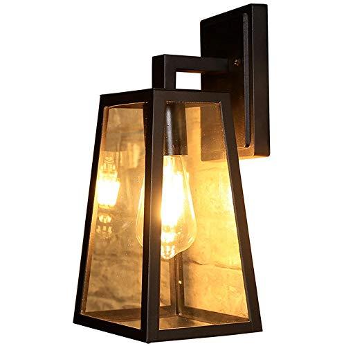 Sebasty Lámpara de pared industrial retro lámpara de pared de la sala de estar estilo europeo jardín villa creativo bar restaurante lámpara de pared 26 * 17 * 14 cm