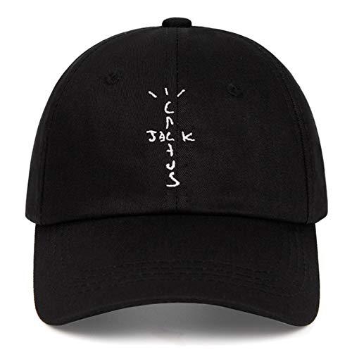 Gorras de béisbol de algodón Unisex Dad Hat Cap Hombre Mujer Sombrero de Verano-Black