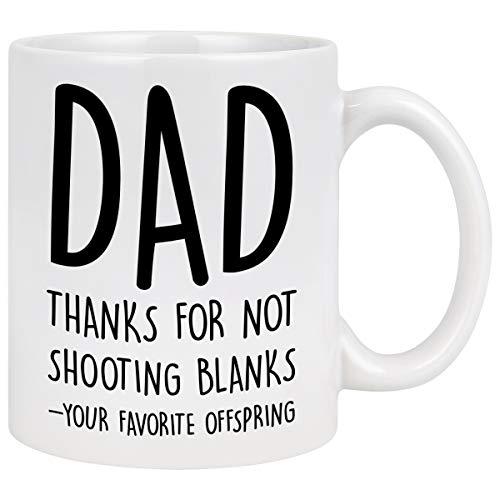 dad coffee cups Shooting Blanks Coffee Mug Dad Coffee Mug Funny Dad Mugs from Daughter Son Funny Mug for Dad Coffee Mug for Men Fathers Day Mug for Dad Daddy 11 Oz