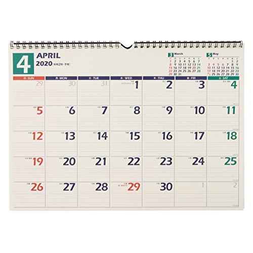 能率 NOLTY カレンダー 2020年 4月始まり B4 壁掛け 14 U115 ([カレンダー])