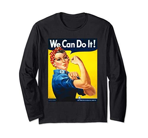 Rosie The Riveter Wir können es tun Frauenstolz Langarmshirt