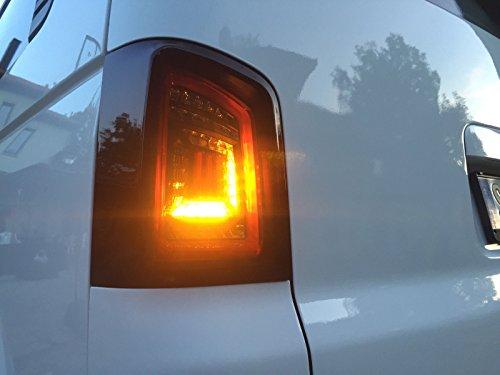 Voll LED Rückleuchten schwarz rote Lightbar LED Laufblinker RV35ALLBS-R