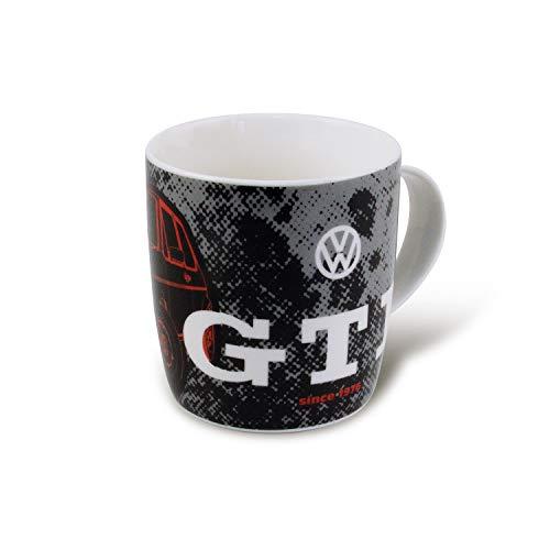 BRISA VW Collection - Volkswagen Golf GTI Kaffee-Tee-Tasse-Becher für Küche, Werkstatt, Büro - Camping-Zubehör/Geschenk-Idee/Souvenir (Motiv: GTI 1976/370ml/schwarz)