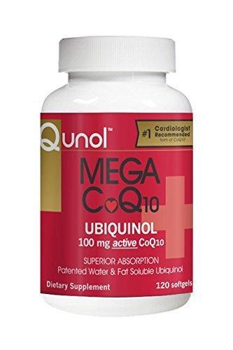 Qunol Mega CoQ10 Softgels, 100 Mg, 120 Count by Qunol