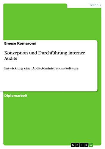 Konzeption und Durchführung interner Audits: Entwicklung einer Audit-Administrations-Software