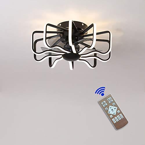 Ventiladores de Techo con Iluminación Mando a Distancia,Ventilador de Techo con Luz 58cm Motor DC 5 aspas Ventilador,3 Velocidades,Temporizador, Interruptor invers,160W 3000K-6000K ventilador techo