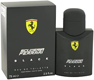 Scuderia Ferrari Black by Ferrari for Men - Eau de Toilette, 75ml