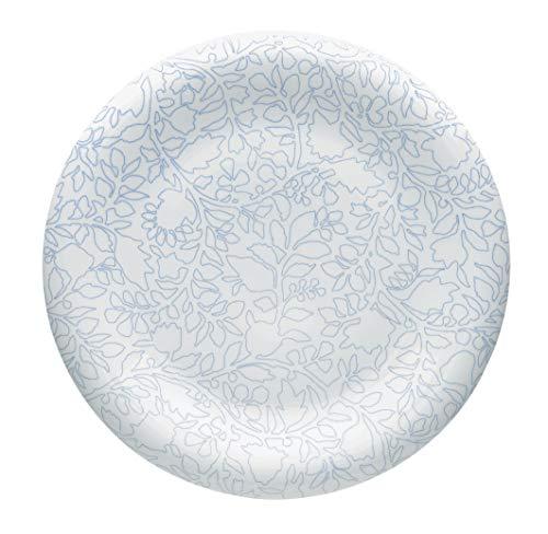 Alessi Gv27/77 Blu Rose Soucoupe Pour Tasse à Café en Porcelaine Blanche Décorée, Set de 6 Pièces