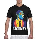 Stormzy Shirt Men's T Shirt Cool 3D Printed Graphic Crewneck Tee Short Sleeve Tops 3X-Large Black