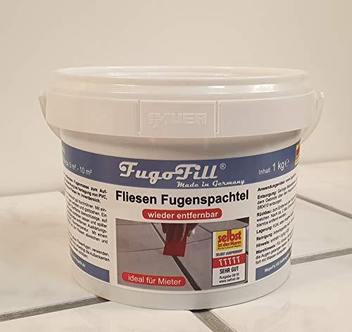 1 kg FugoFill wieder ENTFERNBARE Ausgleichsmasse, Fugenfüller zum Ausgleichen von Fliesenfugen bei Vinyl, PVC, Teppich oder Laminat auf Fliesen IDEAL für MIETER