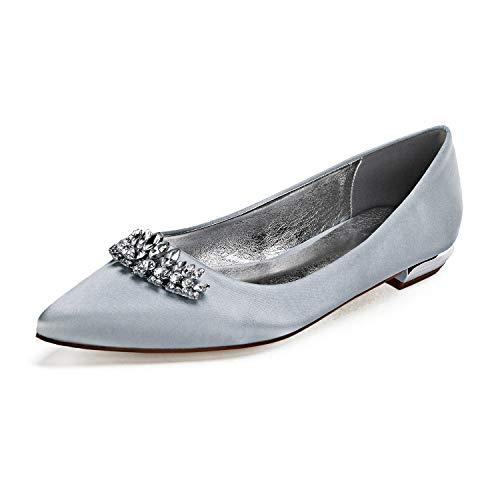 Zapatos De Boda De Novia para Mujer Marfil Punta Dedo del Pie...