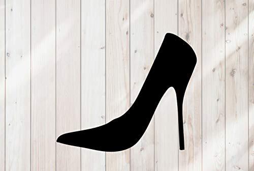 43LenaJon Calcomanía de vinilo para ventana con diseño de zapatos de tacón alto y zapatos de tacón alto, impermeable para coche