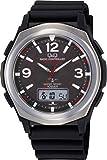 [シチズン Q&Q] 腕時計 アナログ 電波 ソーラー 防水 日付 曜日 表示 ラバーベルト MD16-305 メンズ ブラック