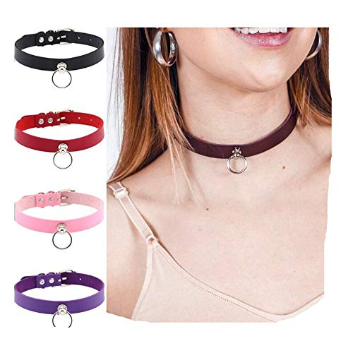 Z-one 1 2pCS Collar de gargantilla de cuero Pu de cuero personalizado ajustable Collar de cuero impermeable Ancho Cadena de repuesto