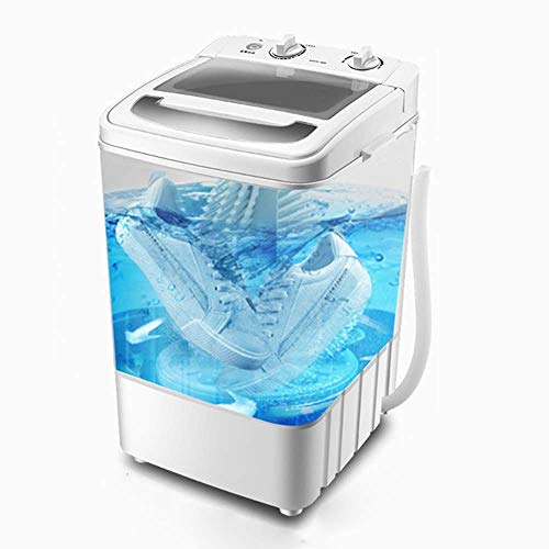 Portable Mini Shoe Wasmachine, Smart Lazy Automatische desinfectie Washer, 7.0kg Schoenen borstelmachine, Static Micro Ponsen Technology Geur Eliminatie, Blauw (kleur: grijs) zhihao (Color : Gray)