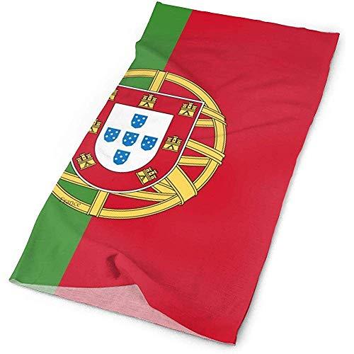 Quintion Robeson Outdoor-Kopfbedeckungen zum Angeln, Wandern, Laufen, Radfahren Kopf Wickeln, Sport Stirnband Schweißband Magic Scarf, Portugal Flagge