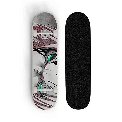 Skwingt Anime Skateboard Longboards 7 Capas Cubiertas Complete Cruiser Profesional Estándar Serie...