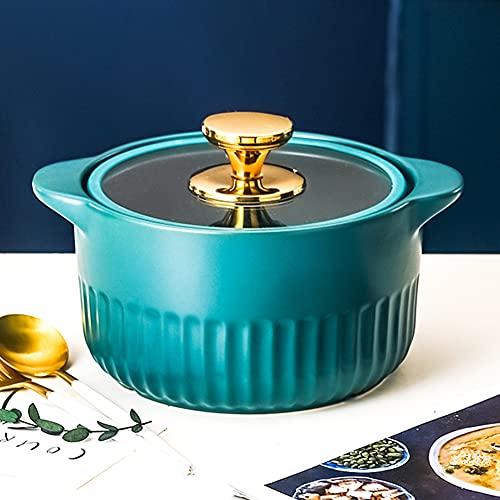 Casserole, Soup Pot, Crock Pot, Open Flame Ceramic Stew Pot, Health Pot, Household High Temperature Stew Pot,Dinnerware,5L