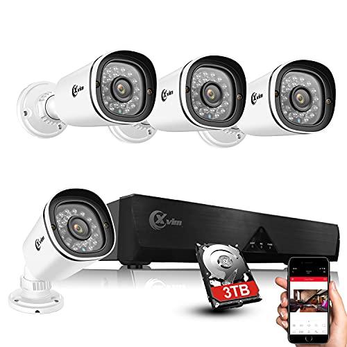 XVIM POE Security Camera System-4PCS POE Home...