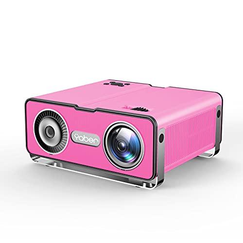 Mini Projecteur Soutien Full HD 1080P Rétroprojecteur avec Fonction de Zoom, Projecteur WiFi Home Cinéma Compatible iPhone, Android, TV Stick