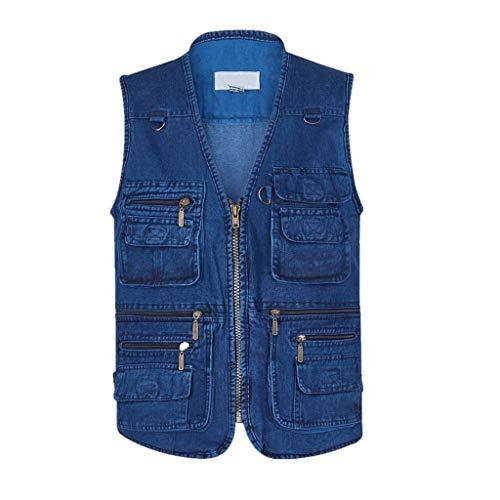 WEWE Vissen Fotografie Vest, Mannen Multi Pockets Waistcoat 16 Zakken Leer, Zomer En Herfst Outdoor Gilet