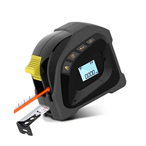 Misura di Nastro Laser, Tooltoo Metro a Nastro e Telemetro Laser 2 in 1, USB Ricaricabile Misuratore di Distanza Laser Digitale, Misurazione Continua, Calibrazione Regolabile