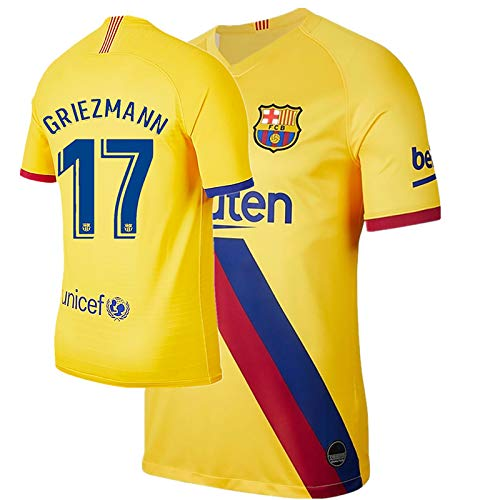 JHGVBN New 17 Griezmann 19-20 Mens Away Jerseys Size L Yellow