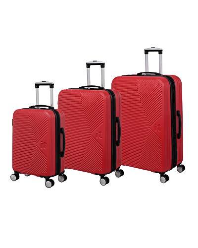 it luggage Aligned 3 Piece Hardside Expandable Set, Orange.com with Black Trim