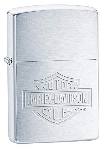 Zippo Orig. Zippo Harley Davidson Motorcycles, Bar & Shield Silber