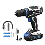 Bielmeier Cordless Drill Set, 20V MAX Lithium-Ion Power Drill Cordless, Electric Drill with Variable Speed, LED and...