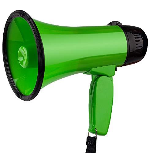 MyMealivos 拡声器 5W 小型メガホン STM-101 サイレン音つき 防災にも (緑)
