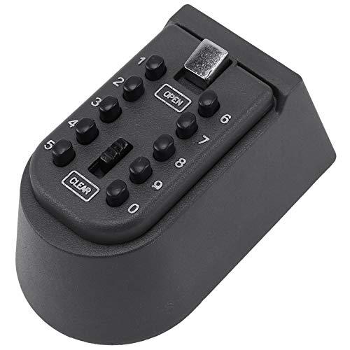 Uniquk Caja de Bloqueo de Llave Montada En La Pared con Una Combinación de Botón Pulsador de 10 Dígitos Invitados, Llave de Repuesto En Casa U Oficina Kit de Impermeable