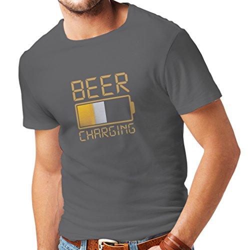 lepni.me Maglietta da Uomo Ricarica della Birra, Citazioni Divertenti, Umorismo da Bar per Gli Amanti della Birra (X-Large Grafite Multicolore)