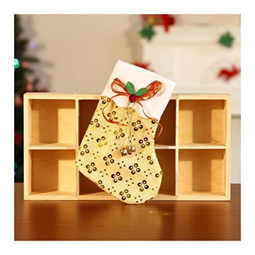 DOUPJ Confezioni Regalo Natalizie Paillettes Sacchetti di Caramelle Regali per Bambini Calzini Decorativi per Albero di Natale