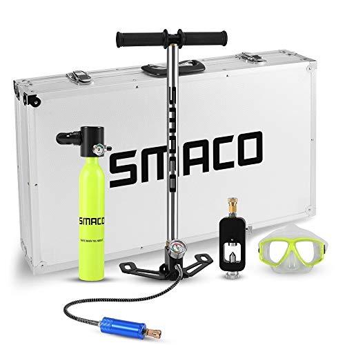 SAIPULIN Mini Tauchflasche Tauchausrüstung Sauerstofftank Set Gesamtfreiheit Atemzug unter Wasser for 5 bis 10 Minuten (Color : Mini Scuba Yellow)